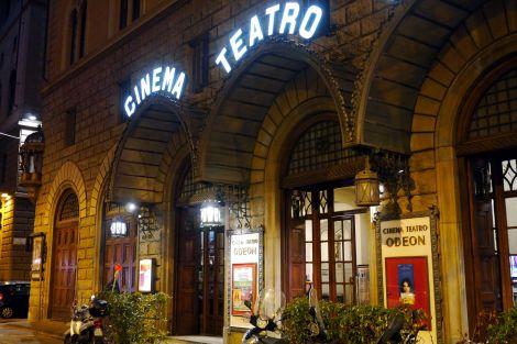 Eingang ins Odeon auf der Piazza Strozzi
